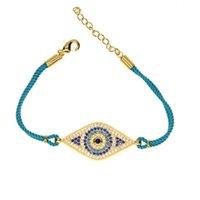 Charm Bracelets Simple Designer Turkish Dichromatism Evil Eye Bracelet Pave CZ Rope Fashion Bracele Jewellery Accessories