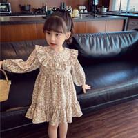 Girl's Dresses Bear Leader Fall Flower Girls Korean Fashion Long Sleeve Princess Dress Cute Little Children Costume Vestidos