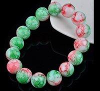 10mm 12 mm arco iris hebras de cuentas pulsera pulseras pulseras muyer ágata vidrio brazaletes brazaletes elástico encanto cadena de cristal natural para hombres y mujeres