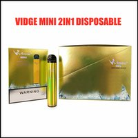 Vidge Mini 2 in 1 Tek Kullanımlık E-Sigaralar Cihaz Kitleri 400 mAh Pil 600 Puffs 2 ml Pod Önceden Dolgulu Vapes Pods Sopa Taşınabilir Buhar Vape 5 Renkler