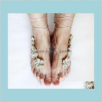 Anklets Puro Handnitted Jewelry Jewelry Laceup Barefoot Sandals Beach Fiesta de boda Entrega 2021 NFOLA