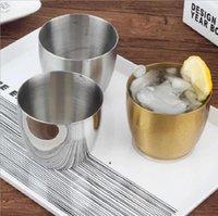 304 Edelstahl Tumbler Saft Tasse Verdickte Koreanische Einschicht Restaurant Bier Tassen Getränke Getränk Kaltes Getränk Wasser Kaffeetasse HHD6013