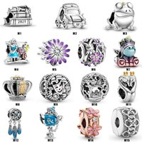 Car 925 Sterling Silver Blue Dreamcatcher Bead Charm Fit Brand Bracelet Diy Jewelry DIY Accessories