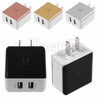 Metalen 2A Dual USB EU US AC Home Fast Charger Power Adapter voor Samsung Galaxy S6 S8 S10 HTC