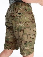 Pantaloncini da uomo PaveHawk Multicam Tactical Cargo Uomini Cool Camouflage Summer Lavoro Militare Combattimento Escursionismo Caccia Casual Casual Impermeabile Ripstop