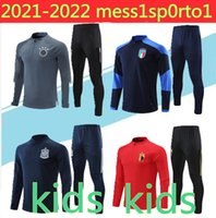 2021 KIDS National Team Germany 이탈리아 스페인 Werner Kimmich Brant Jacket Half Pull Football Training Suit
