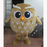 Performance yellow big fat owl Mascot Costume Halloween Christmas Fancy Party Cartoon Character Outfit Suit Adult Women Men Dress Friuts Carnival Unisex Adults
