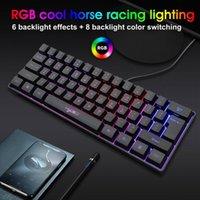 Проводная игровая механическая клавиатура Multi Color Anti-Ghosting RGB освещенная светодиодная USB BLACKLIT программируемый для игровых ноутбуков для ноутбуков ПК