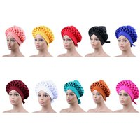 Ethnic Clothing Design 2021 Auto Gele Headtie Turban Cap African Women Hats Nigerian Selling 2pcs Accessories