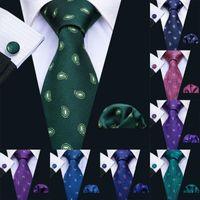 LS-5003 8.5cm 2020 New Mens Tie Tie 100% Seta Barry.Wang 11 Colori Paisley Ties For Men Wedding Business Style Dropshipping Tie Set