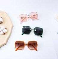 Fashion Kids Polygon Sunglass Boys Lettre Sunglasses Sunglasses Summer Enfants Lunettes de plein air Filles Beach Sunblock Shade A6152
