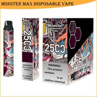 Newest 2500 puffs Monster Max disposable vape pen electronic cigarette with fashion design and big capacity pod kit