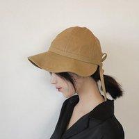 Wide Brim Hats Fashion Bow Tie Sun Hat Summer Autumn Women Panama Anti-UV Beach Bowknot Foldable Bucket Fisherman Cap