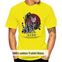 Men's T-Shirts 2021 Men Harajuku T Shirt Japanese Samurai Cat Tshirt Streetwear Hip Hop Summer Cool T-Shirt Short Sleeve Cotton Tops Tees Wh