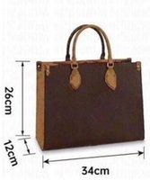 여성 Luxurys 디자이너 핸드백 M44570 숙녀 토트 쇼핑 가방 도매 핸드백 패션 Onthego 클래식 어깨 가방