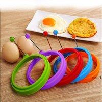 둥근 심장 튀김 계란 반지 팬케이크 Poach 금형 실리콘 계란 링 금형 라운드 주방 요리 도구 반지 팬케이크 베이킹 액세서리 HHE9331