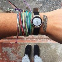 Braccialetti intrecciati in cera I braccialetti fatti a mano Multilayer Amicizia Amicita Braccialetto di corda di cera Braccialetti multicolore Le donne intrecciate regolabili 15 N2