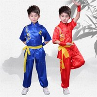 Día de los niños Danza oriental Boy Chica Tradicional Ropa china para niños Clan Men Dragon Shirt Hanfu Ropa V9TE #