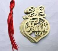 2021 Christmas wooden church heart-shaped bubble decoration home holiday party Pendant