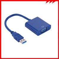 Hubs USB3.0 To VGA Video Graphic Converter Card Display External Cable 1080P Connectors Adapter For PC Laptop
