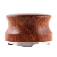 Cztery kątowe nachylenie 58.35mm Techniki Rose Wood Powder Hammer Espresso Maker Cafe Barista Narzędzia Akcesoria do kawy