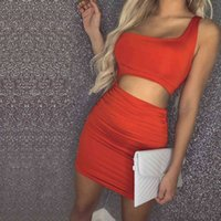 Chrome Hearts 2021 spring and summer new women's sexy one shoulder pleated skirt hip dress 11 colors 5 18VQ