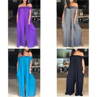 Plus Size Women Clothing Summer one shoulder loose casual large Jumpsuit