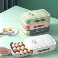 Storage Bottles & Jars Refrigerator Egg Holder Box Food Container Kitchen Drawer Type Fresh Keeping Dumpling