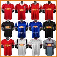 Retro Version Soccer Jerseys 00 02 07 08 83 84 85 85 86 91 92 93 94 96 نهائيات كرة القدم Giggs Scholes Beckham Manchester Ronaldo Cantona Keane United Classic Shorts