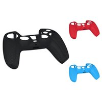 Silicone Case For PS5 Dustproof Skin Protective Cover With Anti-Slip Particle PlayStation 5 Controller Cell Phone Mounts & Holders