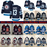 Winnipeg Jets Jersey 13 Pierre-Luc Dubois 26 Blake Wheeler 33 Dustin Byfuglien 55 Mark Scheifele 29 Patrik Laine 81 Kyle Connor Hockey Jerseys