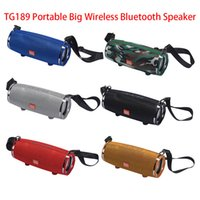 TG189 Portable Big Wireless Bluetooth Speaker Music MP3 Player Super Bass Waterproof Subwoofer with Mic and Shoulder Support FM TF Card USB Playback Audio Input