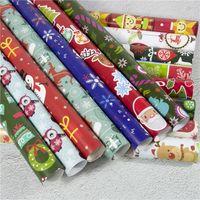 Moda cor aniversário feriado festa de presente decoração de Natal DIY DIY Dos Desenhos Animados Santa Snowman Deer Padrão