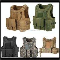 사냥 재킷 야외 위장 조끼 전술적 몰 조절 가능한 페인트 볼 게임 바디 갑옷 플레이트 캐리어 조끼 9FQWL VLXD5