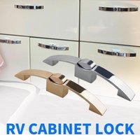 Parts 128mm Hole Distance Camper Car Push Lock RV Caravan Boat Cabinet Locks Handle Home Drawer Latch Button Motorhome