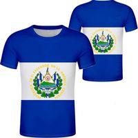 EL SALVADOR T Shirt Name Number Slv T-shirt Photo Clothing Print Diy Free Custom Made Not Fade Not Cracked Tshirt Jersey Casual H0911