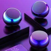سماعات بلوتوث اللاسلكية المحمولة 3D mini M3 الملونة الكهربائي جولة الصلب مدفع راديو دعم يو قرص مضخم الصوت