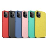 Eco-Friendly Silicone Cover For iPhone 13 12 11 Pro Max Phone Cases Cover For iPhone 11pro Anti-fall Soft TPU Wheat Straw Case