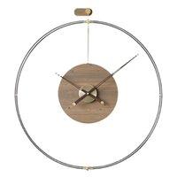 Настенные часы Nordic роскошные часы современный дизайн безмолвный большой домашний декор творческий деревянный металлический час гостиной украшения