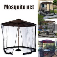 Tents And Shelters Umbrella Table Screen Outdoor Patio Anti Mosquito Pest Net Cover With Zipper & Water Tube Adjustable Mesh Canopy Curtain