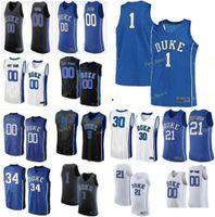 NCAA College Duke Blue Devils Basketball Jersey 0 Wendell Moore JR River Tatum 1 Vernon Carey Irving Parker Williamson Custom genäht