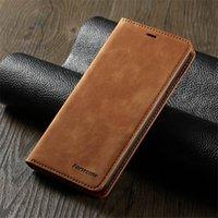 forwenw 럭셔리 비즈니스 가죽 전화 케이스 아이폰 12 미니 프로 최대 5.4 6.1 6.7 자기 힘 지갑 커버