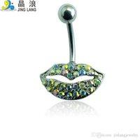 Novo estilo! DIY de alta qualidade moda prata aço cirúrgico strass strass shap shap button anel para mulheres corpo reming jóias