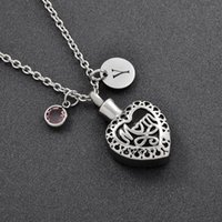 Accessories DIY Stainless Steel Vintage Design Memorial Ash Keepsake Cremation Jewelry Pendant Necklace Women For Mom Chains