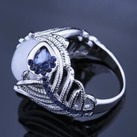Wedding Rings Natural Stone Opal Ring Stainless Steel Women's Birthday Gift Female