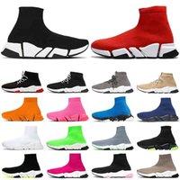 Speed 2 .0 الرجال النساء جورب أحذية عالية أعلى أحذية رياضية أسود أبيض ثلاثي أحمر البيج الأصفر الوردي الدانتيل رمادي حتى رجل الأزياء المدرب