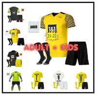 Top Haaland Reus Borussia 20 21 Dortmund Soccer Jersey 2020 2021 Camisas de futebol Bellingham Sancho Hummels Brandt Men Kit Kit uniformes