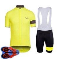 Rapha Equipo 2021 Ciclismo transpirable Jersey Jersey Mens Verano Camisas de manga corta BIB Shorts Kits Racing Bicycle Uniform Outdoor Sportwear Ropa Ciclismo S21040605