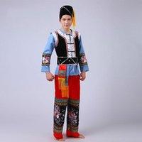 Uomo cinese tradizionale abbigliamento tradizionale Miao nazionalità uomini minoranza danza del palcoscenico performance costumi Hmong Yi Tujia usura