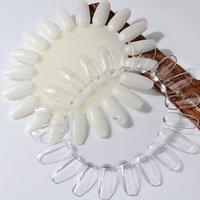 Falsche Nägel 5 Set Nagel-Tipps Klar Natur-Kunst-Display Oval Stil Swatch Polnische Stand-Praxis Maniküre-Werkzeuge